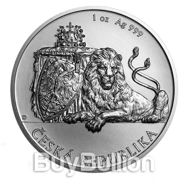 Niue 1 oz Silver Czech Lion