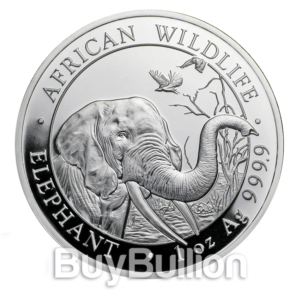 Somalia 1 oz Silver Elephant