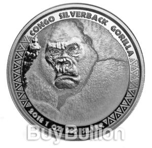 1 oz 99.9% silver Gorilla