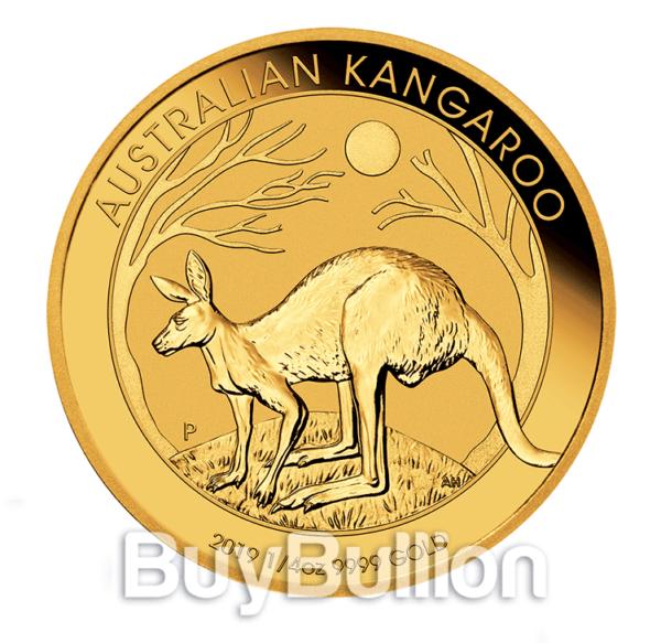1/4 oz gold kangaroo 2019