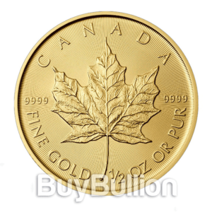 1/2 oz gold maple leaf coin