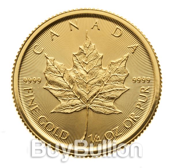 1/4 oz gold maple leaf 2019