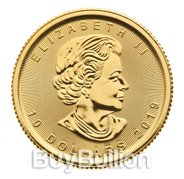 1/4 oz gold maple leaf coin