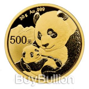 1 oz gold panda 2019
