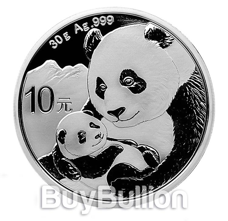 1 oz Panda silver coin 2019