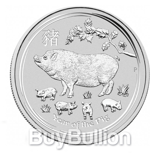 1 oz Year of the Pig silver coin 2019
