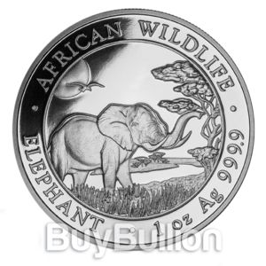 1 oz silver somalia elephant