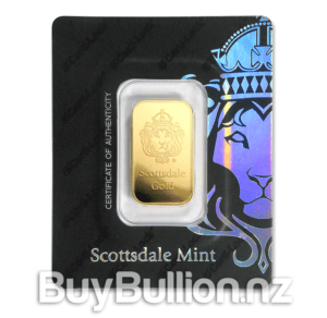 1 oz Scottsdale gold bar in assay card