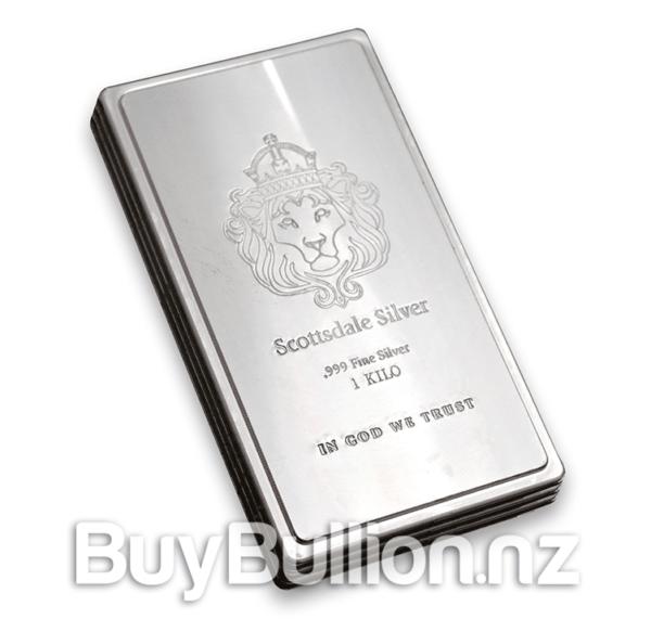 1 kg silver Scottsdale Mint Stacker bar
