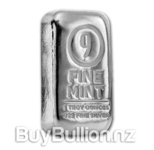 5 oz Silver 9 Fine Mint Bar