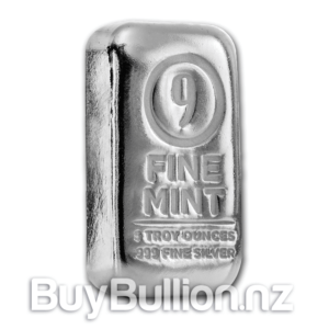 5 oz Silver 9 Fine Mint Bar