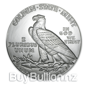 5 oz Incuse Indian Silver Round