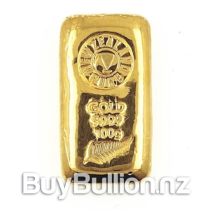 100 gram 99.99% NZPure gold bar
