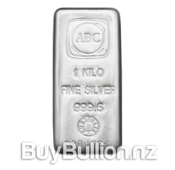 1000 gram 99.95% Silver ABC bar