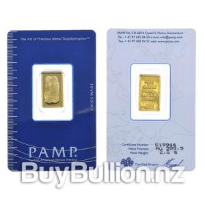 2.5 gram 99.99% gold bar